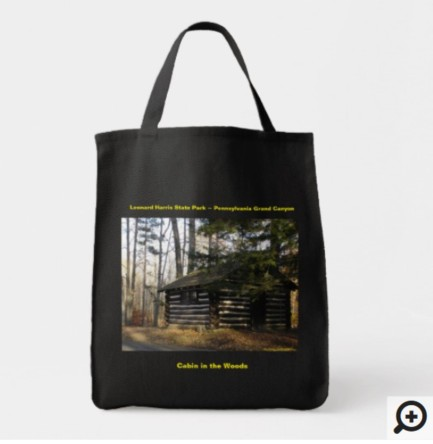 cabin in the woods tote